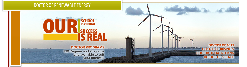 Doctor of Renewable Energy (PhD), Online University Courses and